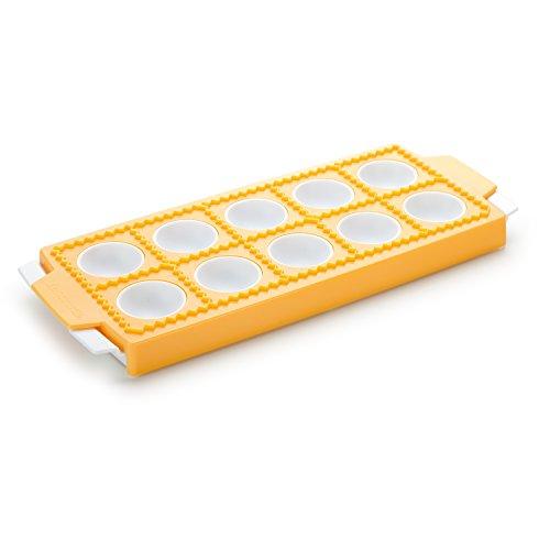 Tescoma Delicia–Ausstechform für runde Ravioli, für 10 Stück, Kunststoff, gelb