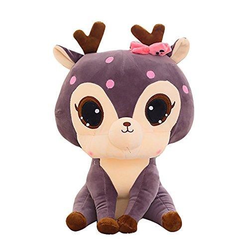 Magiyard Peluches Ciervo, Animal Soft Simulation Lovely Plush Cute Deer Collection Toys Doll (Púrpura)