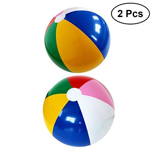 asbarer Strandball Wasserball Strand Wasser Party Spielzeug (Regenbogen) ()
