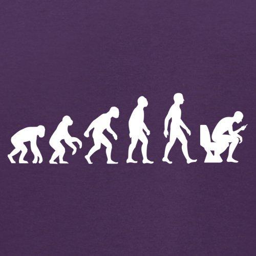 Evolution of Man - Telefon auf der Toilette - Herren T-Shirt - 13 Farben Lila