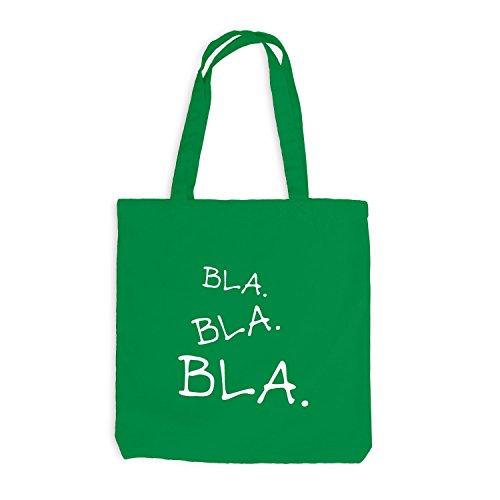 Jutebeutel - Bla Bla Bla - Style Design Casual Kellygrün