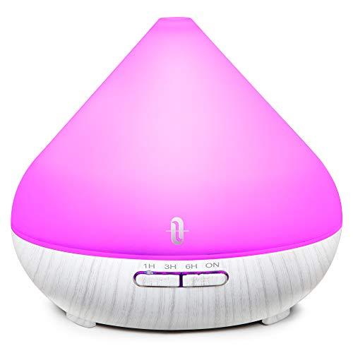 TaoTronics Aroma Diffuser mit patentiertem Ölflusssystem 300ml Düfte Humidifier 7 Farben für Yoga Salon Spa Wohn-, Schlaf-, Bade- oder Kinderzimmer Hotel【2019 Neueste】