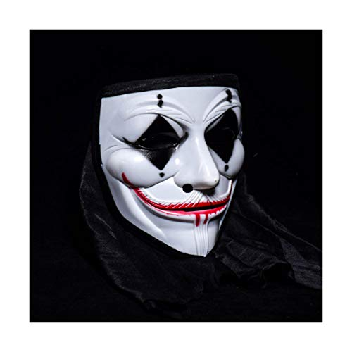 BUY-TO Halloween-Maske Kostüm Party Clown Requisiten Scary Horrible Masquerade für Erwachsene,Black