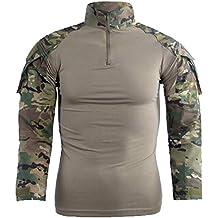 FashionYoung FY Taktisches Hemd M/änner Milit/är Airsoft BDU Hemd Kampf Taktisches Langarm Jagdhemd Multicam