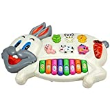 Zitto Rabbits Musical Piano with 3 Modes Animal Sounds, Flashing Lights
