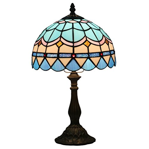 FABAKIRA Tiffany Nachttischlampe Stil Tischlampe Kreatives Büro Lampe Dekorative Glasmalerei 10 Zoll -