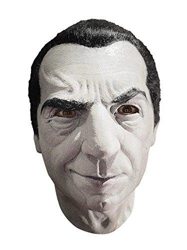 Dracula Bela Lugosi Vampir Latex Maske mit Haaren Lizenzartikel grau schwarz (Bela Lugosi Dracula Maske)