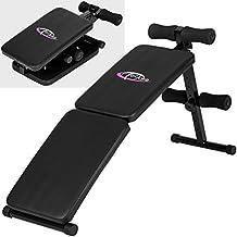 TecTake Banco de musculación banco de pesas ejercicio abdominales plegable | 120 cm x 33 cm x 63 cm