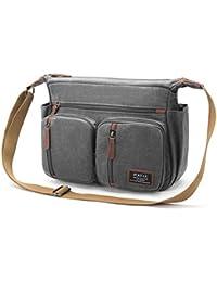 37ba47072 FOSTAK Bolso Bandolera para Hombre y Mujer para Ordenador portátil de 13,3  Pulgadas, Multibolsillos, Acolchada, para Viajes,…