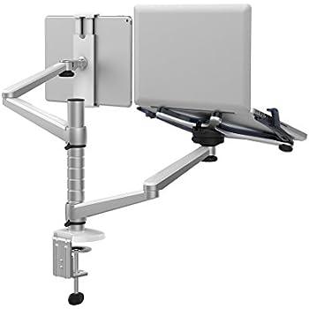 r glable en aluminium multi fonction pour bureau ordinateur portable tablette support double. Black Bedroom Furniture Sets. Home Design Ideas