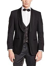 MASTERHAND Herren Smoking Sakko Mens Tuxedo Jacket Gr. 25+52+110 Schwarz 34/1-4