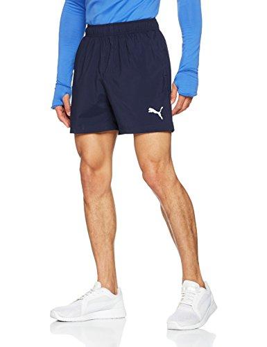 Puma Herren ESS Woven Shorts 5 Zoll Hose, Peacoat, XL (Active-logo-shorts)