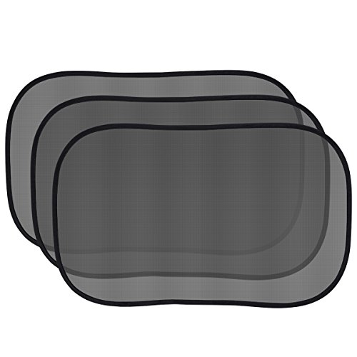 Topop Auto Parasole per Laterale e Posteriore della Finestra per i Bambini (3 Pack) - Auto Parasole Protector