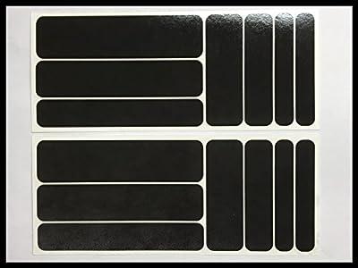 Aufkleber Set14 aus Reflexfolie 3M Scotchlite schwarz
