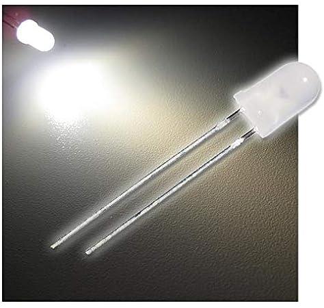 WEIß 20000mcd 5mm hoher Fertigungsstandard Led 10 Stück Leuchtdioden
