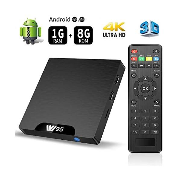 floureon-W95-TV-Box-Android-71-Amlogic-S905W-Quad-Core-1GB8GB-Mali-450-Penta-Core-GPU-4K-Botier-Numrique-et-Intelligent-pour-la-Tlvision-WiFi-Smart-TV-Box-with-LED-Indicator
