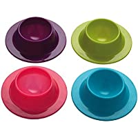 Superideal  Silicone Egg Serving Cup Holders (Set of Four)(Sent by Random Color Combination)