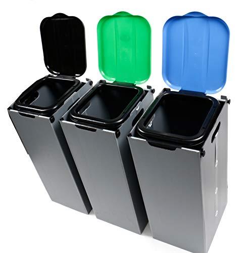 *Bubble-Store Müllbeutelständer zur Mülltrennung inkl. Klemmvorrichtung, Mülltüte 20-130 Liter, Höhe ca. 76 cm*