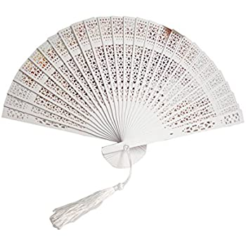 Colourful Vintage Hollow Wood Hand Fan Chinese Fragrant Wooden Folding Fans