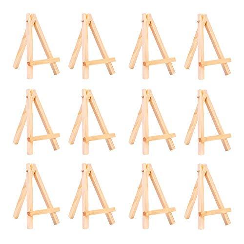 Mini-Kunststoff-Staffelei für Künstler, dreieckig, Tischständer, Dekoration, Telefonständer, einfach modisch, ideal für Hochzeiten, Partys, Feiern, Café, Dekoration. 8.5 * 15.5CM 10PACK-A