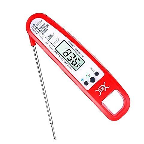 Thermomètre de Cuisine, YXwin Thermomètre de Cuisson Numérique Ecran LCD Avec Inoxydable Sonde lecture Instantanée Précis pour Alimentaire Liquides Viande bbq le lait de bébé
