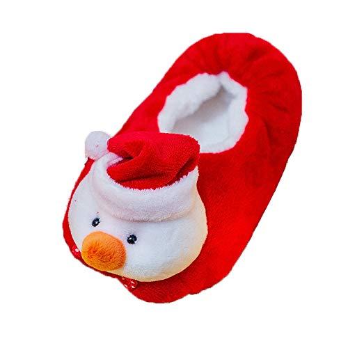 Chaussures Premiers Pas BéBé Fille Garçon Chaussettes de Noël Doux Souple Princesse, Binggong Infant Père Noël Doux Sole Prewalker Chaussures de Maison antidérapantes pour Bébé 1-5Ans
