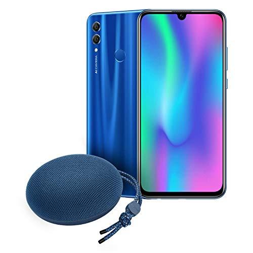 "Honor 10 Lite Smartphone débloqué 4G (6,21 pouces, 64Go, ""Double Nano SIM ou Nano SIM + MicroSD"", Android P) Bleu Saphir + Enceinte Bluetooth Honor Soundstone AM 51 Bleu"