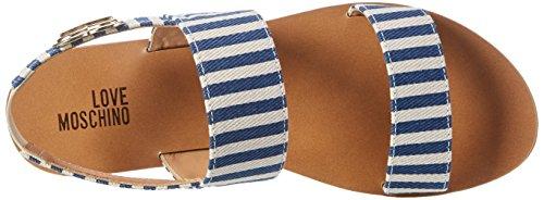 Love Moschino Damen Offene Sandalen Weiß (Blue)