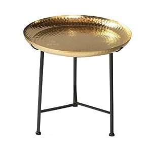 Table d 39 appoint marocaine dor m tal teetisch oriental cuisine maison - Table d appoint dore ...