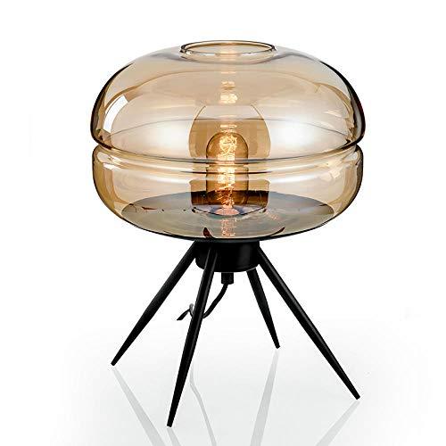 Tischleuchte,Nachttischlampe,Nachttischlampe, Lernbegleiter Tischlampe, einfach, Glas@Bernstein -