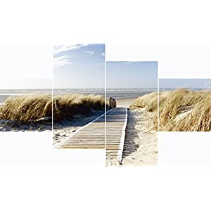 Artland Glasbilder Wandbild Glas Bild Set 3 teilig je 20×20 cm Quadratisch Strand Meer Küste Nordsee Natur Landschaft…