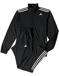 adidas TS Entry - Chándal para hombre, color negro / azul / blanco, talla 186
