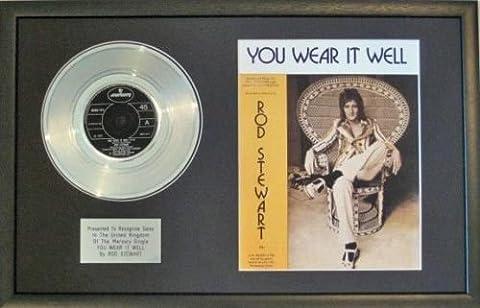 Rod stewart-platinum Disc & Lied sheet-you ES tragen gut