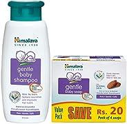 Himalaya Baby Shampoo (400 ml) & Himalaya Gentle Baby Soap Value Pack, 4