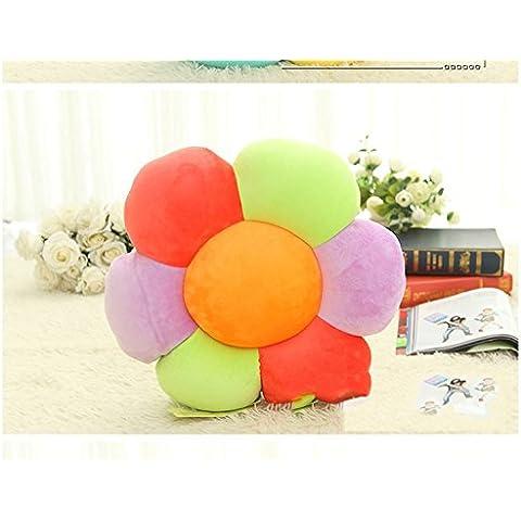 famiglia, letto +, cuscino del collo Carino cuscino girasole ammortizzatore ammortizzatori sei particelle di schiuma fiore fiori multicolori regalo peluche Viaggi cuscin ( colore : B. )