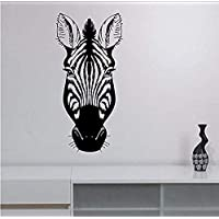 Sticker Zebra Head Vinyl Wall Sticker Decal African Wildlife Art Decorations for Home Housewares Living Room Bedroom Wall Stickers 90 X 44 cm