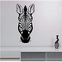 Sticker Zebra Head Vinyl Wall Sticker Decal African Wildlife Art Decorations for Home Housewares Living Room Bedroom Wall Stickers 90 X 44 cm