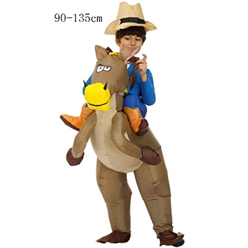 diaped Aufblasbare Kostüm Karikatur lustig Erwachsene/Kinder Halloween-Party Kostüm-Dinosaurier,Cowboy, Stier, Schwarzer Sumo, Gorilla