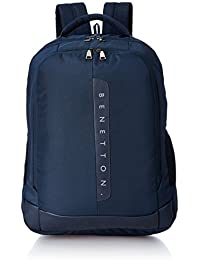 United Colors of Benetton 24 Ltrs Navy Blue Laptop Backpack (0IP6BKPD0005I-203)