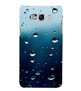 Rain Drop Pattern, Blue, Lovely Pattern, Amazing Pattern, Printed Designer Back Case Cover for Samsung Galaxy J7 (6) 2016 :: Samsung Galaxy J7 2016 Duos :: Samsung Galaxy J7 2016 J710F J710Fn J710M J710H