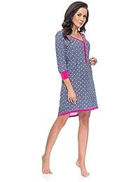 dn nightwear Damen Nachthemd TM.4031 für Schwangerschaft und Stillzeit