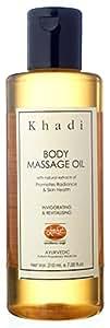 Khadi Body Massage Oil With Jojoba- Herbal & Ayurvedic- 210 Ml