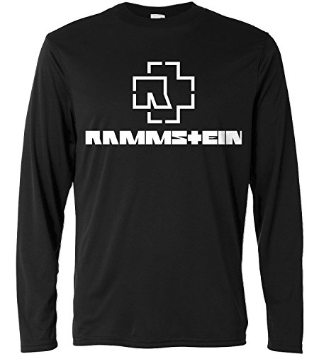 T-shirt a manica lunga Uomo - Rammstein - white print - Long Sleeve 100% cotone LaMAGLIERIA, XL, Nero