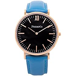 Prempco - Nobel - Ladies Watch - Black/Rose Gold - Quick Change Watch Wrist Band in Blue