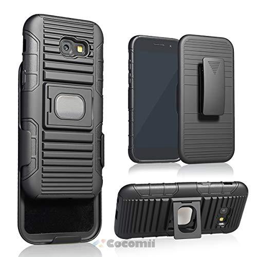 Cocomii Cyborg Armor Galaxy A5 2017 Hülle NEU [Strapazierfähig] 5-in-1 Gürtelclip Ringgriff Ständer [Funktioniert Mit Magnetischer Autohalterung] Case for Samsung Galaxy A5 2017 (Cy.Black)