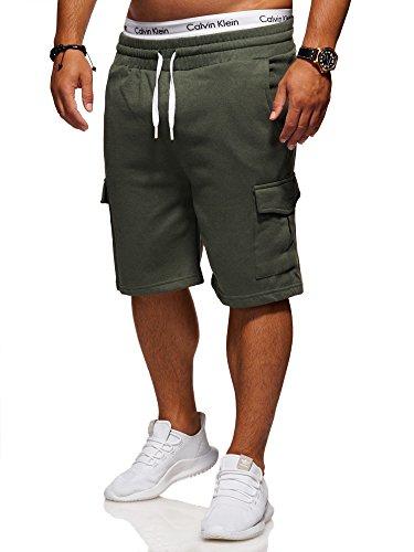 Ombre-Eightt Herren Sweat-Shorts Cargo Bermuda Chino Kurze Hose J-109 [Khaki, M]