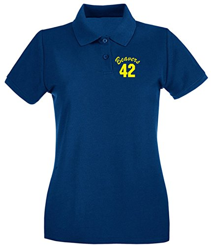 Cotton Island - Polo pour femme FUN0732 beavers teenwolf yel mens cu 4 1 Bleu Navy
