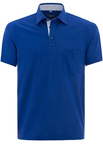 Eterna Herren Polo Shirt Kurzarmshirt Poloshirt Polohemd Hemd Kurzarm Comfort Fit Poloshirt Piqué Marineblau Blau