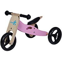 Labebe Baby Wooden Self Balancing Bicycle with No Pedals for 18 months- 2 years Old Toddler Girls, Adjustable Seat Height, Wood wheel Structure with Tire