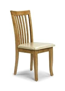 Julian Bowen Newbury Dining Chairs Maple Colour Set Of 2